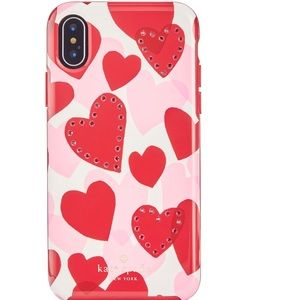 Kate Spade iPhone X Hearts Case
